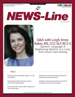 Cover of NEWS-Line for Speech-Language Pathologists & Audiologists