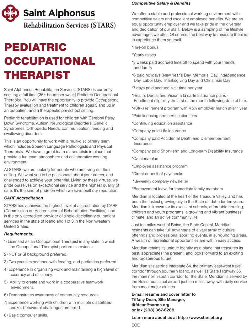 pediatric physical therapist cover letter Pediatric potentials is the premier pediatric occupational and physical therapy practice letter from a long-time that pediatric potentials did not cover.