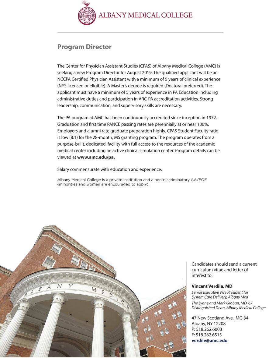 Program Director Center for Physician Assistant Studies