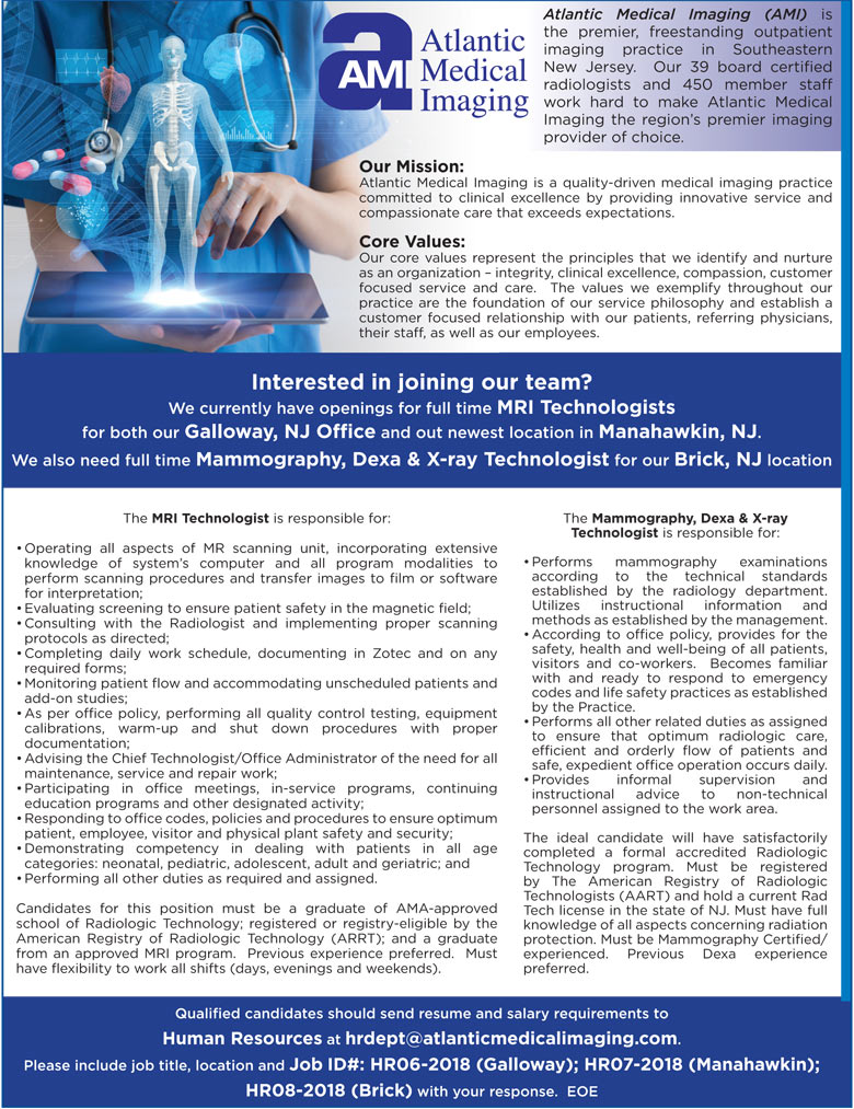 mri technologists mammography dexa x ray technologist job in