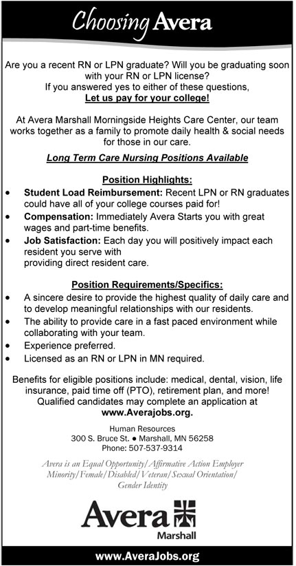 Long Term Care Nursing Positions Available Job In Marshall Minnesota