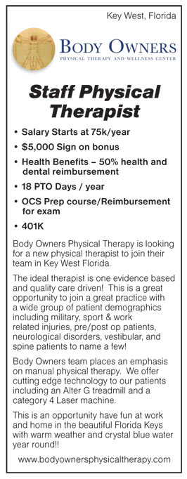 Staff Physical Therapist Job In Key West Florida  Healthcare Jobs