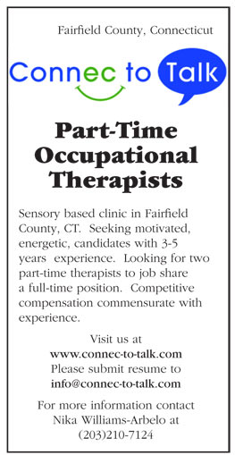 Part Time Occupational Therapists Job In Fairfield County