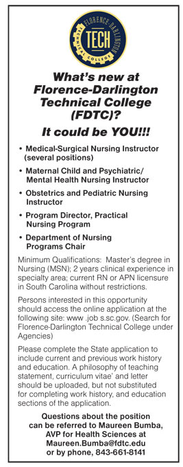 Medical Surgical Nursing Instructor Several Positions Maternal