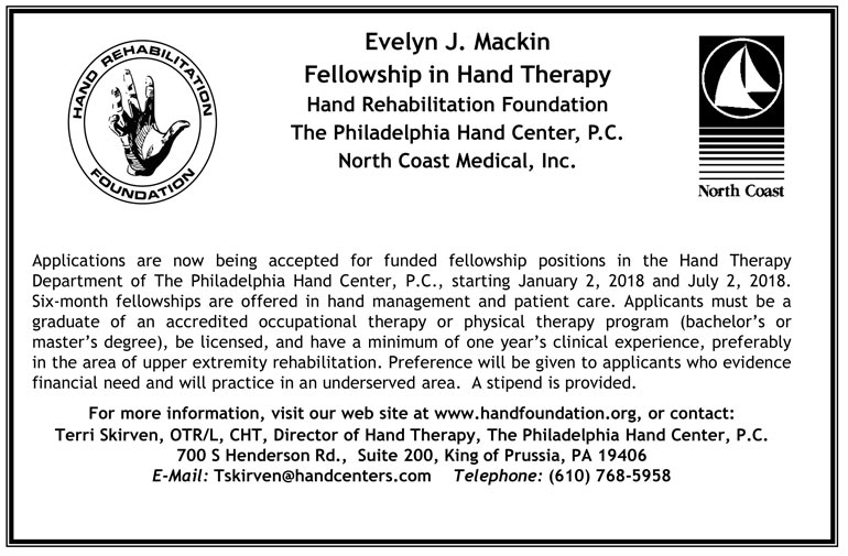 Jobs for hand therapists