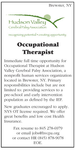 Occupational Therapist Job In Brewster New York  Healthcare Jobs