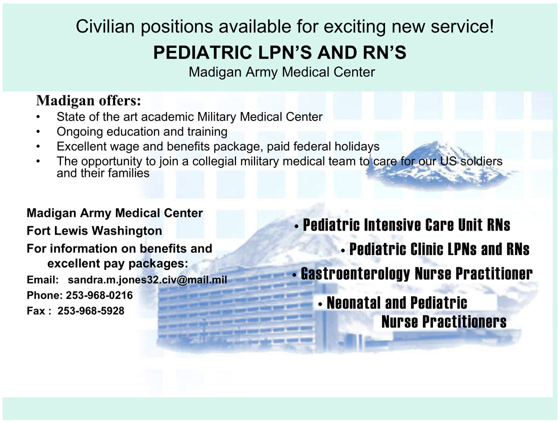 LPN\'S and RN\'S job in Tacoma Washington - Healthcare Jobs & Recruitment