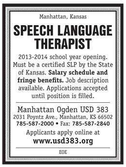 Speech Language Therapist Job In Manhattan Kansas Healthcare Jobs Recruitment