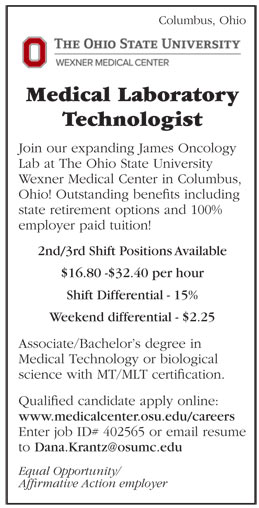 Medical Laboratory Technologist Job In Columbus Ohio  Healthcare