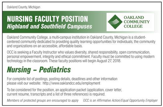Nursing Pediatrics job in Michigan National Faculty - Healthcare ...