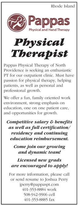 Physical Therapist Job In Rhode Island  Healthcare Jobs  Recruitment