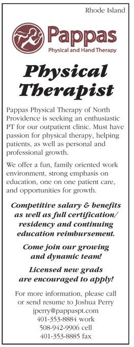 Physical Therapist Job In Rhode Island  Healthcare Jobs  Recruitment
