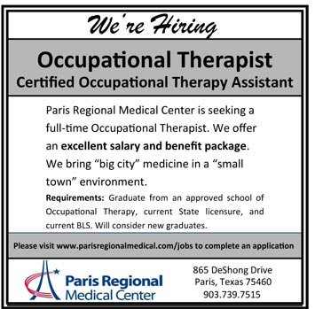 Occupational Therapist Or Cota Job In Paris Texas  Healthcare Jobs