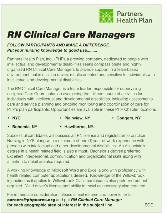 RN Clinical Care Managers job in NYC, Bohemia, Plainview ...