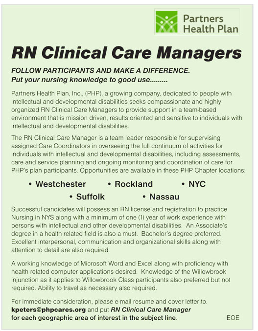 RN Clinical Care Managers job in Westchester, Rockland, NYC ...