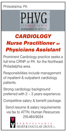 Cardiology Nurse Practitioner Or Physicians Assistant Job In