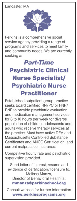 Part Time Psychiatric Clinical Nurse Specialist/Psychiatric Nurse ...