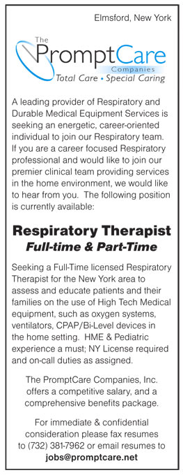 Respiratory Therapist Job In Elmsford New York  Healthcare Jobs