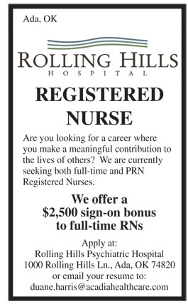 Registered Nurse Job In Ada Oklahoma Healthcare Jobs