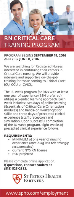 RN Critical Care Training Program job in Albany New York